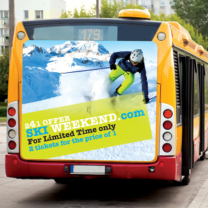 Polar Transit is ideal for transportation signage applications such as flat vehicle sides and transportation signage. It can be adhered to smooth, flat surfaces such as arena displays