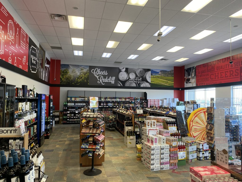 Warwick Printing uses Drytac ReTac for liquor store graphics