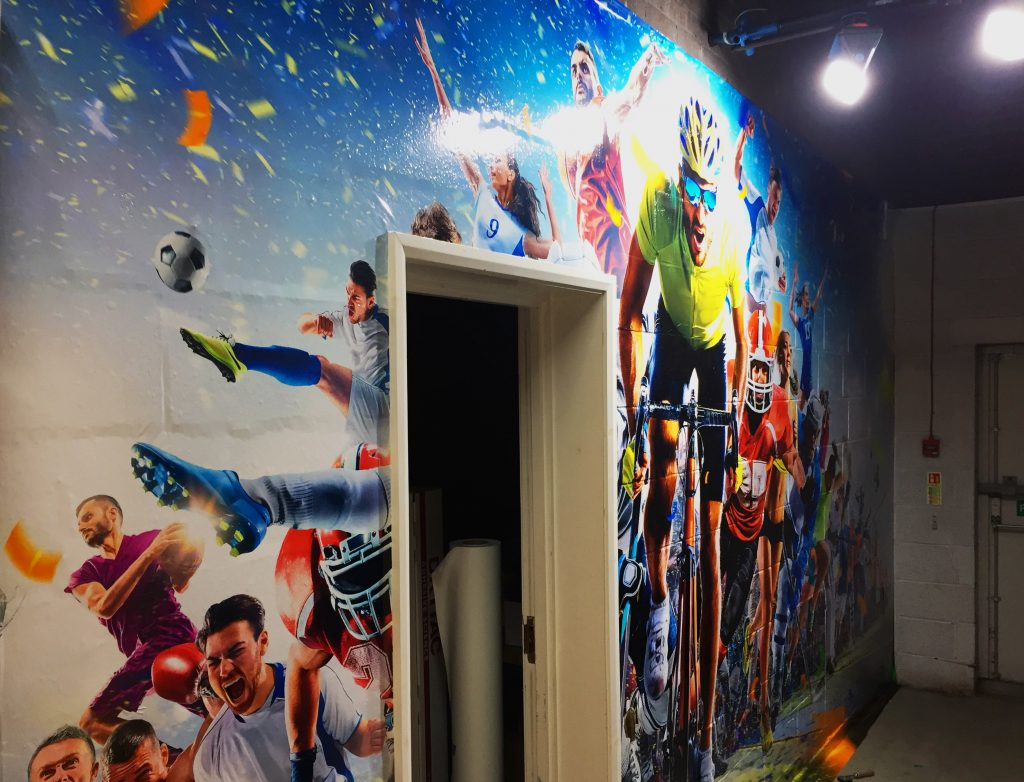 Drytac Blog: How to apply media to bricks for wall and floor graphics